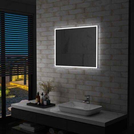 Badezimmer-Wandspiegel mit LED 80 x 60 cm