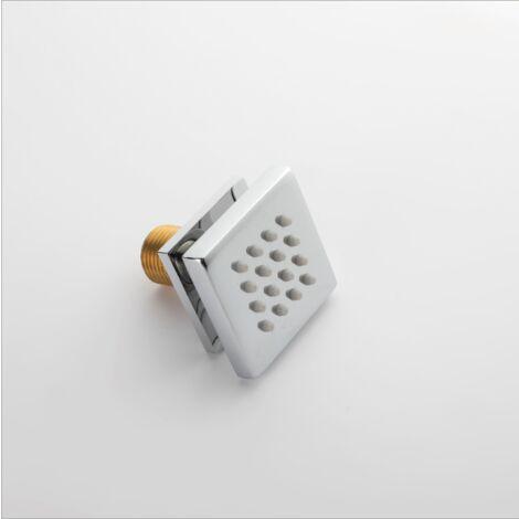 Badezimmerdusche, quadratischer Chromduschkopf
