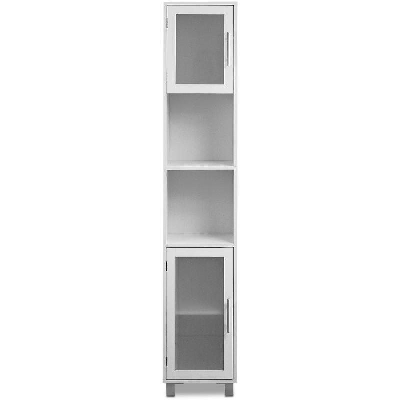Badezimmerhochschrank 33 x 30 x 180 cm weiß
