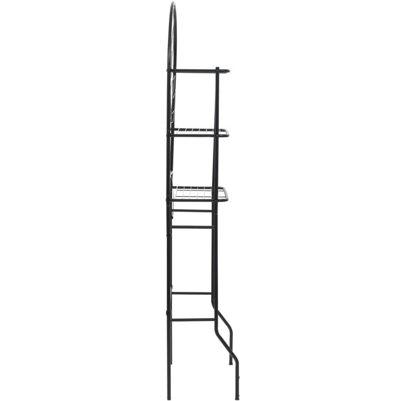 Badezimmerregal Schwarz 60 x 33 x 174 cm