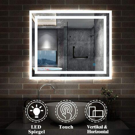 Badezimmerspiegel 50*70 cm Touch Beschlagfrei