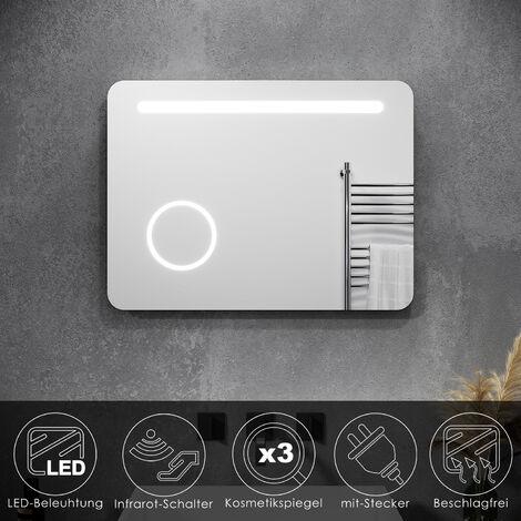 Badezimmerspiegel Badspiegel mit LED Beleuchtung kaltweiß