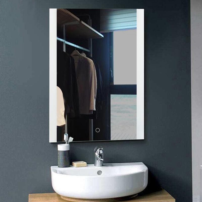 Badezimmerspiegel LED Badspiegel Wandspiegel Lichtspiegel Anti-Beschlag  80*60cm