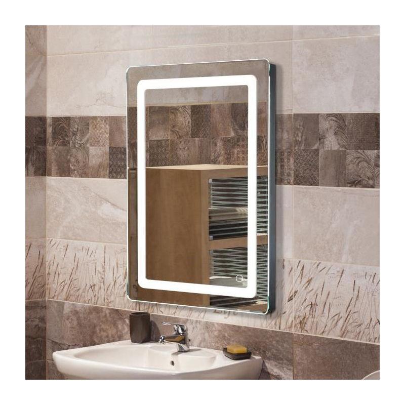 Badezimmerspiegel mit Beleuchtung Badspiegel LED Touch (50x70x4cm, 9W)