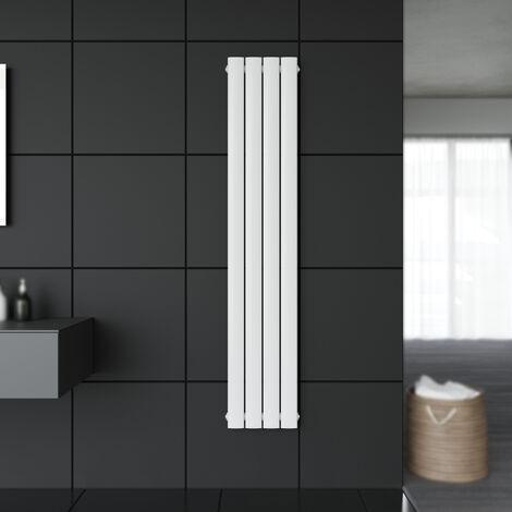 Badheizkörper Design Flach Heizkörper 1600x308mm Weiß Paneelheizkörper Vertikal Mittelanschluss Einlagig
