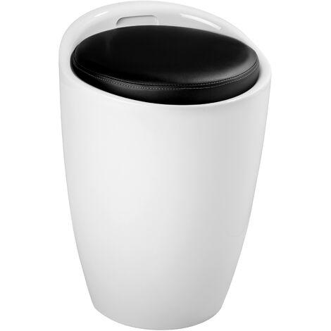 Weißer Badhocker aus Kunststoff mit abnehmbarem W Wenko Hocker Candy White