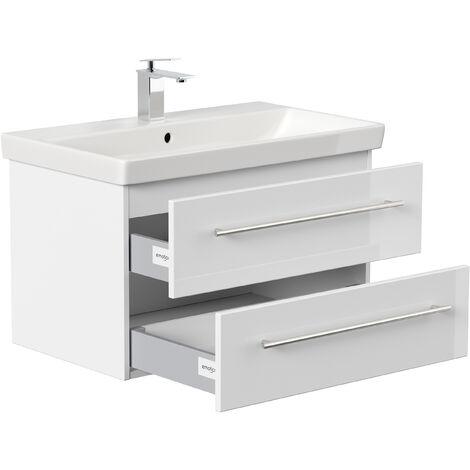 Badmöbel mit Villeroy & Boch Avento Waschbecken 80 cm weiss hochglanz