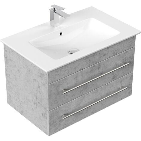 Badmöbel mit Villeroy & Boch Venticello Waschbecken 80 cm beton
