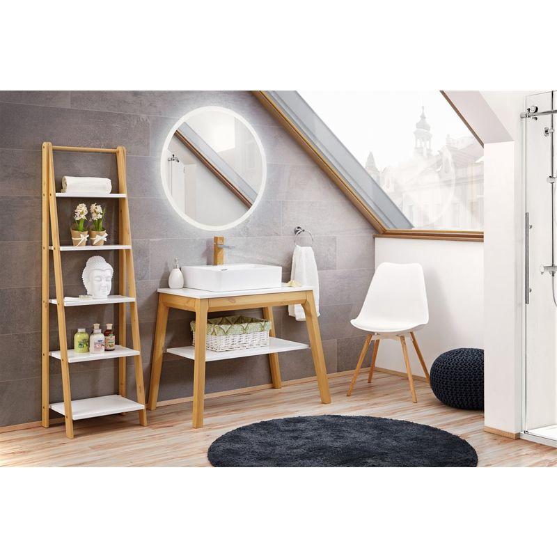 Badmöbel Set 3-tlg Badezimmerset SORBI Eiche massiv + Waschtisch 50cm - FUN MOEBEL