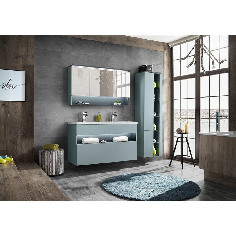 Badmöbel Set 3-tlg Badezimmerset VARESE Mint inkl.Waschtisch 120 cm - FUN MOEBEL