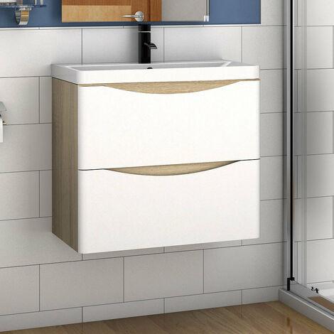 Badmöbel Set 50/60/80 cm Waschtisch mit Unterschrank
