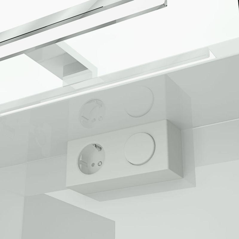 Badmöbel Set City 101 V5 Hochglanz weiß, Badezimmermöbel, Waschtisch 120 cm -16500- mit 2x 5W LED Strahler - TRENDBAD24 GMBH & CO. KG