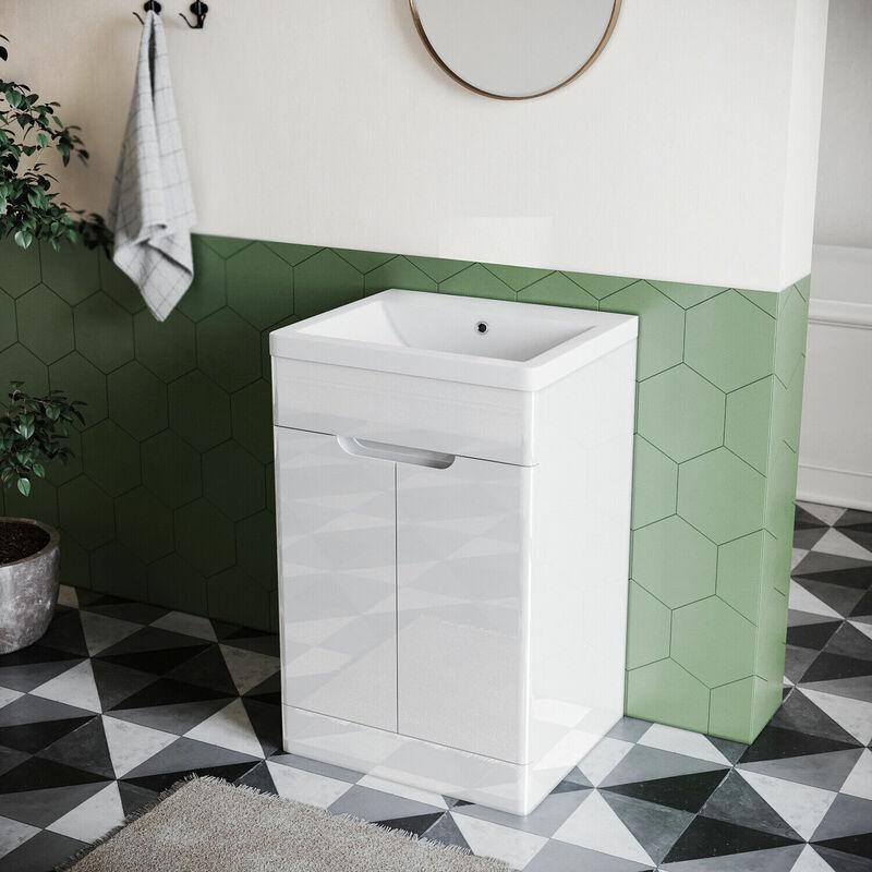 Badmöbel Badmöbelset Set Waschtischunterschrank Waschbecken Mit Unterschrank Weiß gäste wc - SONNI