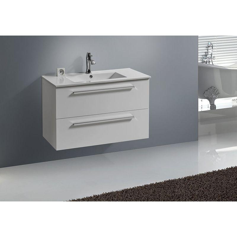 Badmöbel Unterschrank BOXO 90 (weiß) - IMPEX-BAD