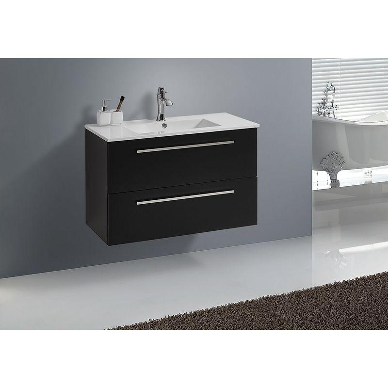 Badmöbel Unterschrank BOXO 90 (schwarz)