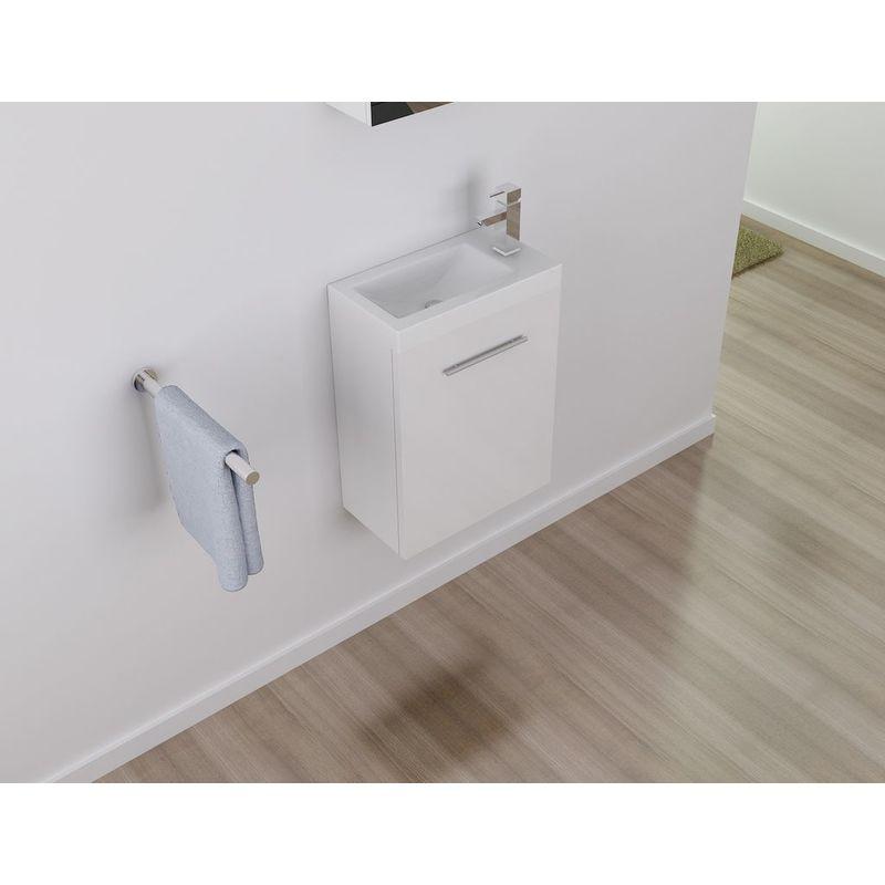 Badmöbel Unterschrank VISIT 45 in weiß inkl. Waschtisch - IMPEX-BAD