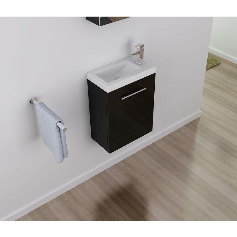 Badmöbel Unterschrank VISIT 45 in schwarz inkl. Waschtisch - IMPEX-BAD