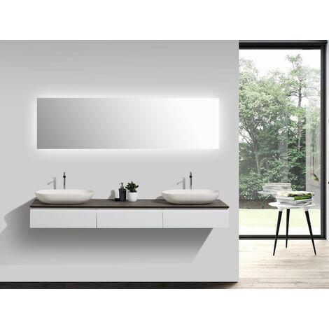 Badmöbel Vision 1800 Weiß matt - Spiegel und ...