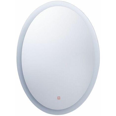 Badspiegel LED-Beleuchtung oval 80x60 cm Antibeschlagsystem Touch Sensor Viriat