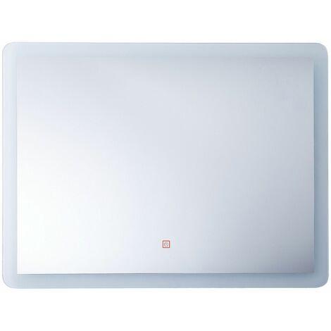 Badspiegel LED-Beleuchtung rechteckig 80x60 cm Antibeschlagsystem Corroy