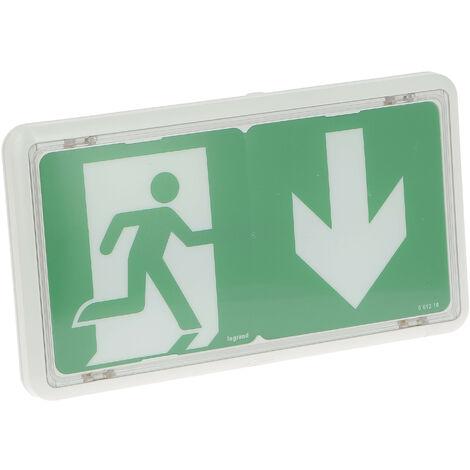 BAES+BAEH d'évacuation ECO 2 à LEDs 45lm-1h plastique IP43-IK07 SATI adressable