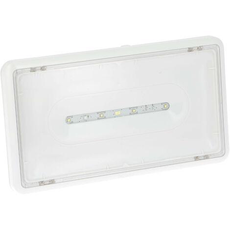 BAES d'ambiance ECO 2 à LEDs 400lm-1h plastique IP43-IK07 SATI adressable