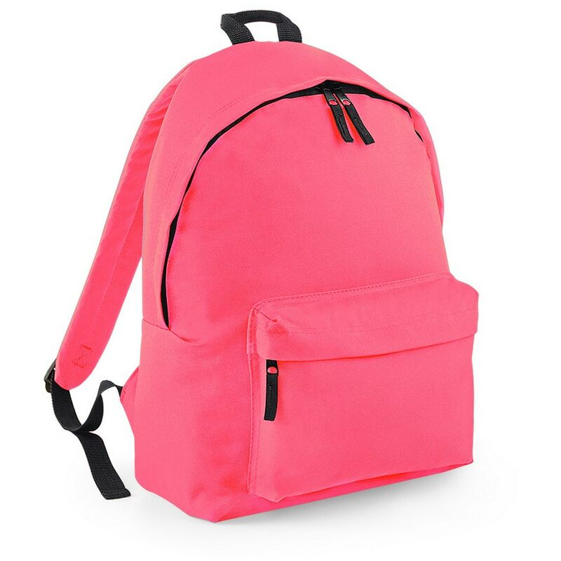 Image of Bagbase Original Plain Backpack (One Size) (Fluorescent Pink)