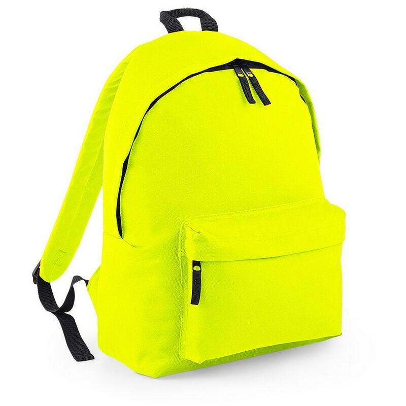 Image of Bagbase Original Plain Backpack (One Size) (Fluorescent Yellow)
