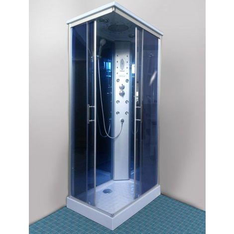 Bagno Italia Box doccia cabina idromassaggio 100x70 cm 6 idrogetti radio cromoterapia