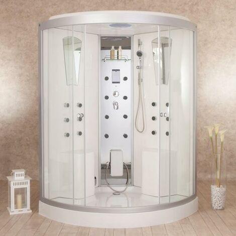 Bagno Italia Box doccia idromassaggio 130x130 cm cabina per due persone con o senza sauna