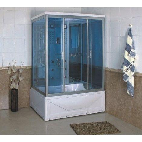 Bagno Italia Box doccia idromassaggio 135x85 cm 6 getti bagno turco radio cromoterapia cabine con vasca