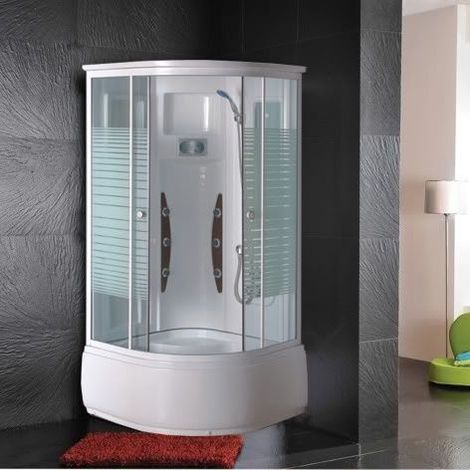 Bagno Italia Box doccia idromassaggio 90x90 cm cabina multifunzione con 6 getti vasca anti-scivolo