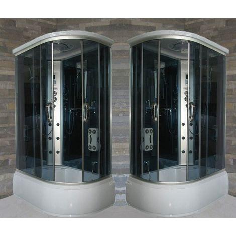 Bagno Italia box idromassaggio 120x80 cm cabina con vasca con radio telefono bagno turco aromaterapia versione sinistra o destra