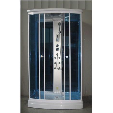 Bagno Italia Box idromassaggio cm 120x80 6 getti Cabina doccia con sauna aromaterapia radio cromoterapia