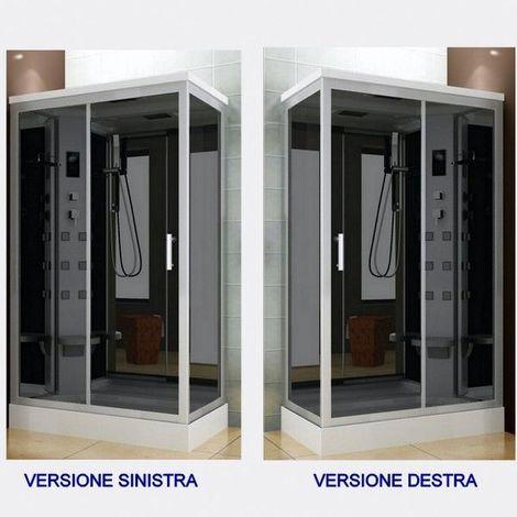 Bagno Italia Cabina box idromassaggio 70x120 con piatto doccia versione destra o sinistra, con o senza bagno turco