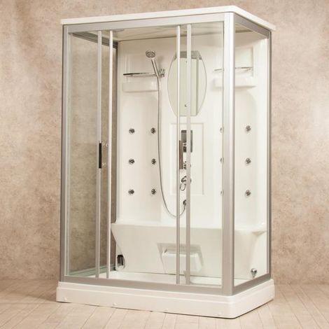 Bagno Italia Cabina idromassaggio 140x90 box doccia 12 idrogetti con o senza bagno turco