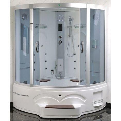 Bagno Italia Cabina idromassaggio 150x150 box doccia con vasca due posti doppia colonna idromassaggio radio cromoterapia