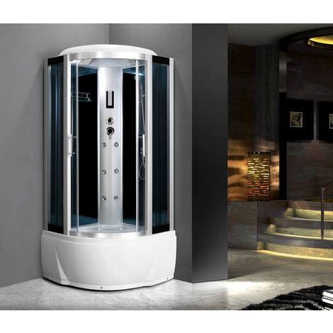 Bagno Italia Cabina idromassaggio 80x80 o 90x90 6 getti con vasca box doccia multifunzione sauna bagno turco