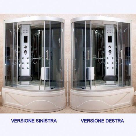 Bagno Italia Cabina idromassaggio con vasca box doccia 115x90 o130x85 versione destra o sinistra con o senza sauna