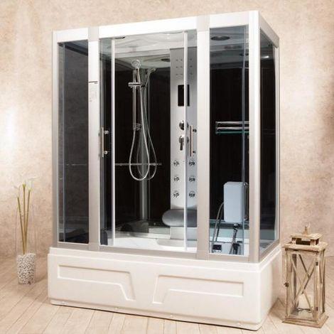 Bagno Italia Cabina Idromassaggio da 150x90 o 160x85 cm box doccia 6 idrogetti massaggio plantare Radio Led con o senza bagno turco