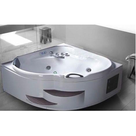 Bagno Italia Vasca da bagno idromassaggio 150x150 cm 2 scalini super accessoriata 14 idrogetti
