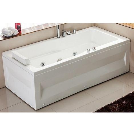 Bagno Italia vasca da bagno idromassaggio 170x70 per una persona rubinetteria 9 idrogetti