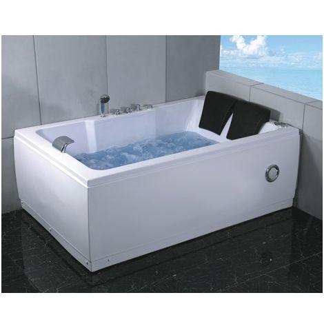Bagno Italia Vasca da bagno idromassaggio 185x120 cm 2 persone 14 getti radio cromoterapia