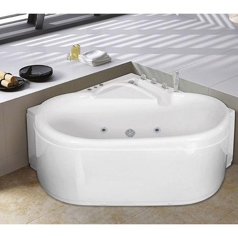 Bagno Italia Vasca da bagno idromassaggio cm 125x125 luci led 15 idrogetti