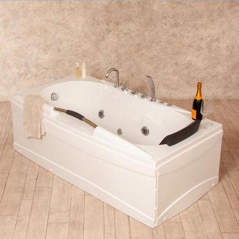 Bagno Italia Vasca da bagno idromassaggio cm 170x86 un posto luci led 5 idrogetti