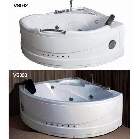 Bagno Italia Vasca idromassaggio 130x130 o 140x140 cm idrogetti sistema airpool e whirlpool cromoterapia radio rubinetteria inclusa