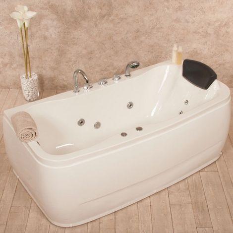 Bagno Italia Vasca idromassaggio 150x80 o 160x80 cm un posto 8 idrogetti luci rubinetti inclusi