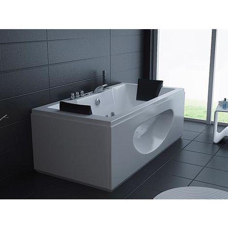 Bagno Italia Vasca idromassaggio 180x90cm full optional 26 getti pompa airpool e whirlpool con o senza riscaldatore