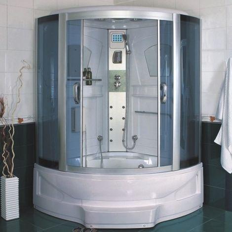 Bagno Italia Vasca idromassaggio con cabina 135x135 o 143x143 con sauna e cromoterapia