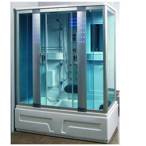 Bagno Italia Vasca idromassaggio con cabina 160x85 cm 12 idrogetti con sauna